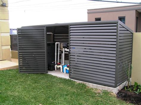 Pool Filter Shed by Pool Equipment Sheds And Hideaways Infinity Pools Of