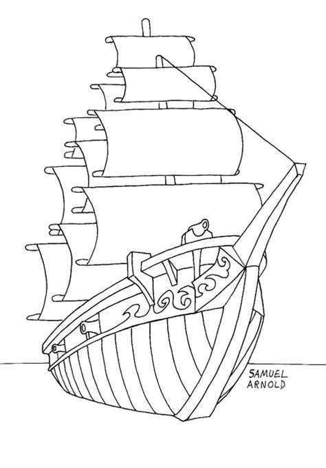 coloring page spanish galleon 17 best images about portuguese ship poster design