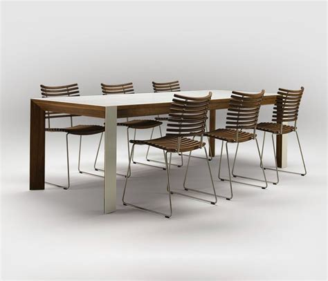corian and walnut extending dining table dining