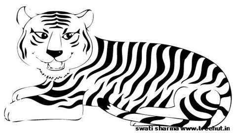 indian tiger coloring page free printable tiger coloring page
