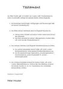 Testament Schreiben Handschriftlich Muster Eigenhndiges Schriftliches Testament Berliner Testament Trennungslsung Nachstehend Finden Sie