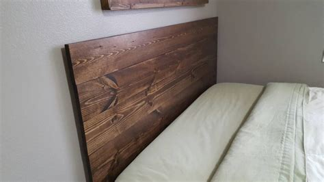 plank headboard queen twin size king full planked wood headboard rustic