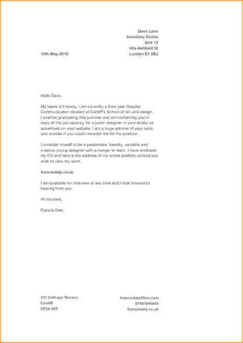 Covering Letter For by Application For Cover Letter