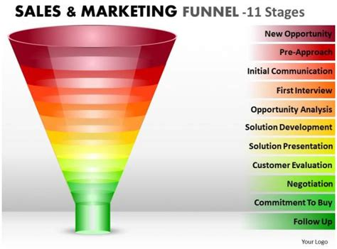 style layered funnel  piece powerpoint  diagram infographic