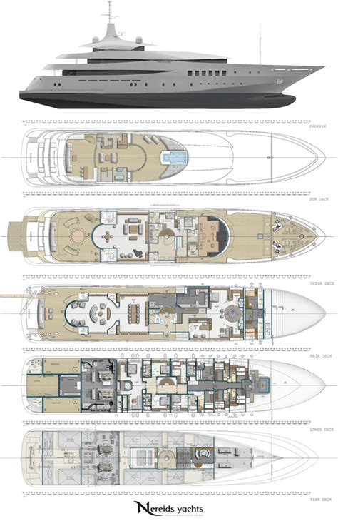 mega yachts layout superyacht pherousa layout image courtesy of nereids