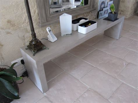 banc beton banc en beton cire photo de beton cire le mobilier