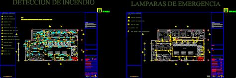 fire detection fire fighting system dwg block  autocad