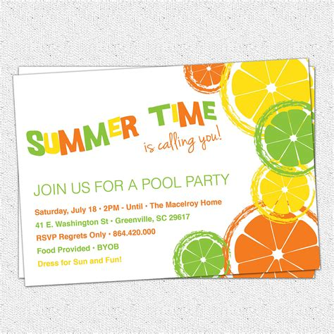 plain invitation templates summer invitation wording infoinvitation co