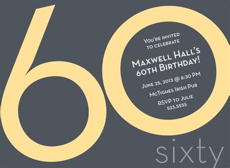 60 birthday invitation templates best 25 60th birthday invitations ideas on