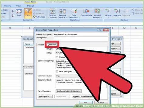 sql query exles tutorial how to embed a sql query in microsoft excel 13 steps