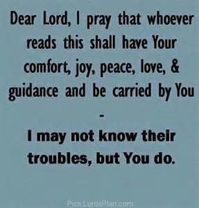dear lord i pray whoever read this shall your