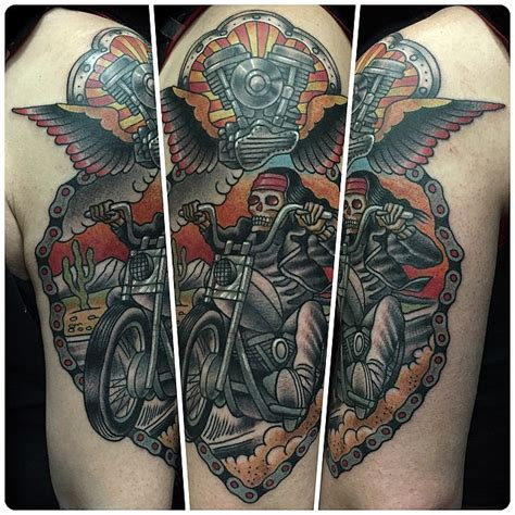 outlaw biker tattoos biker designs