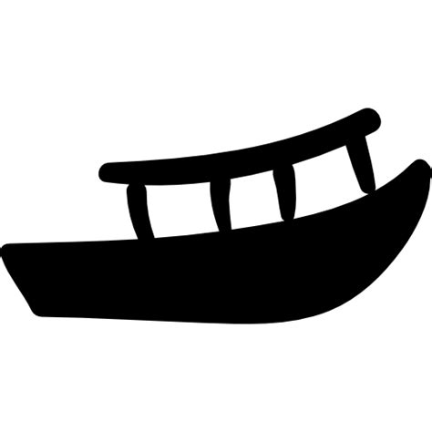 boat silhouette icon canoe or boat filled silhouette free transport icons