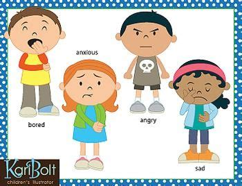 expression clipart child emotion pencil and in color
