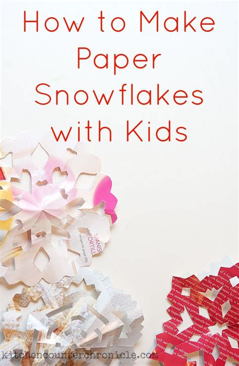 How To Make Beautiful Paper Snowflakes - how to make paper snowflakes with snowflakes