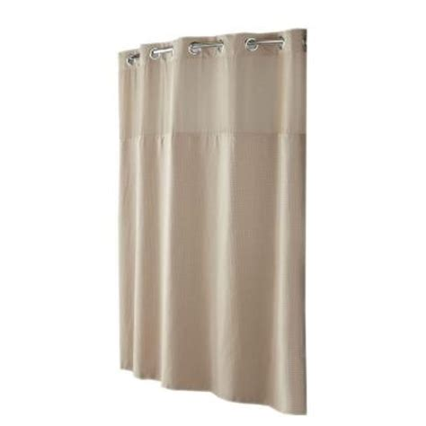hookless mystery shower curtain hookless shower curtain mystery with peva liner in taupe