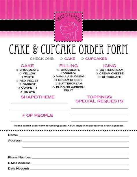 cake order receipt template hoja de pedidos de pasteles postres hoja
