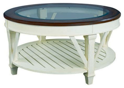 hammary promenade glass top cocktail table