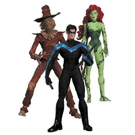 Figure Batman Set 4 batman hush scarecrow nightwing poison figure set dc collectibles batman
