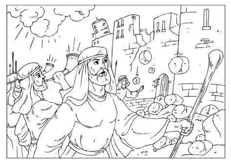 coloring pages for joshua and the battle of jericho jericho coloring pages az coloring pages