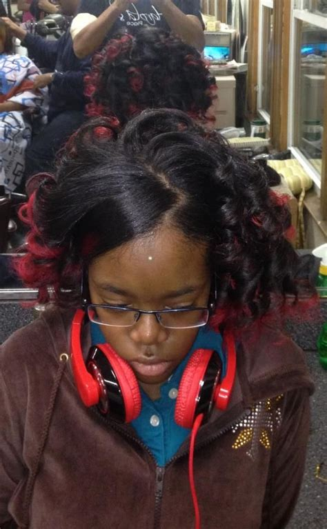 african american hair in spirals spiral curls with red tipped color african american