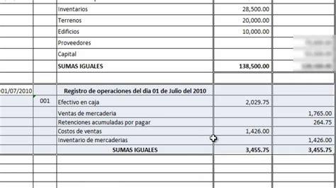 ejemplo libro diario contabilidad leccion no 7 registro en el libro de diario 01 de julio