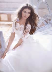 ball gown wedding dress with lace sleevescherry marry