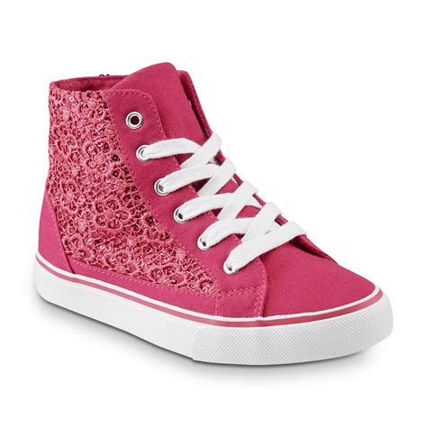 shoes for river blues s pink embellished high top