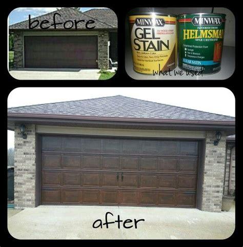 How To Stain A Metal Garage Door by 17 Best Ideas About Garage Door Makeover On