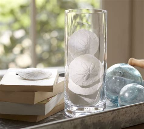 faux sand dollar vase filler pottery barn