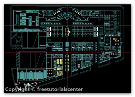 autocad layout design center shopping mall plan and elevation plan designs engineers