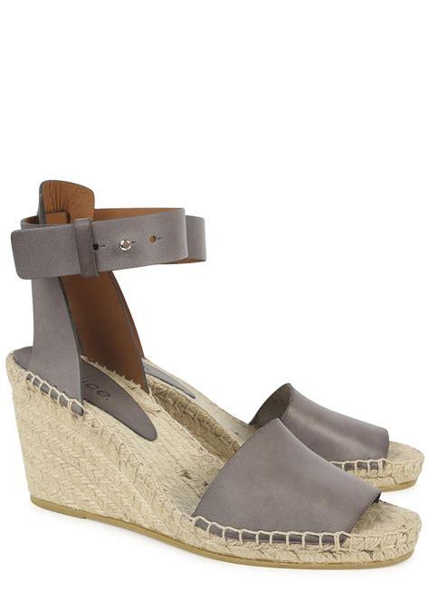 grey sandal wedges vince simona grey espadrille wedge sandals in gray grey