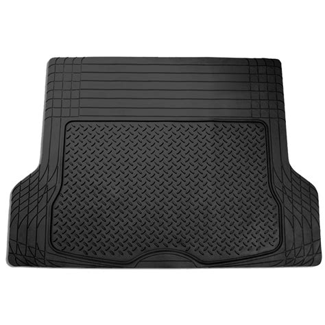 trunk cargo floor mats for auto suv van all weather rubber black ebay