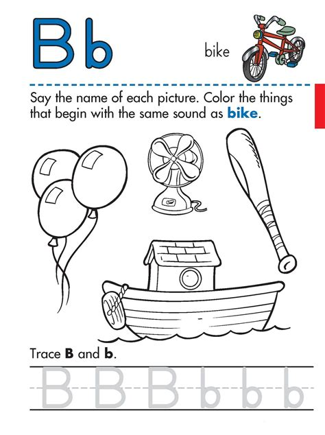 worksheets for preschool letter b trace letter b worksheets activity shelter