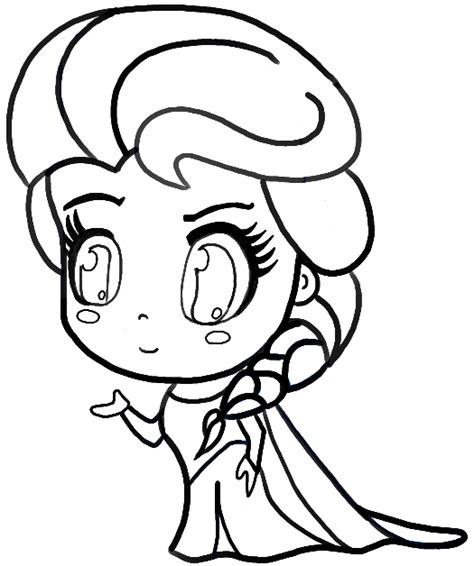 chibi elsa coloring page anime coloring pages coloringfilminspector chibi elsa