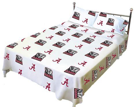 alabama bed set ncaa alabama bed sheet set crimson tide white cotton