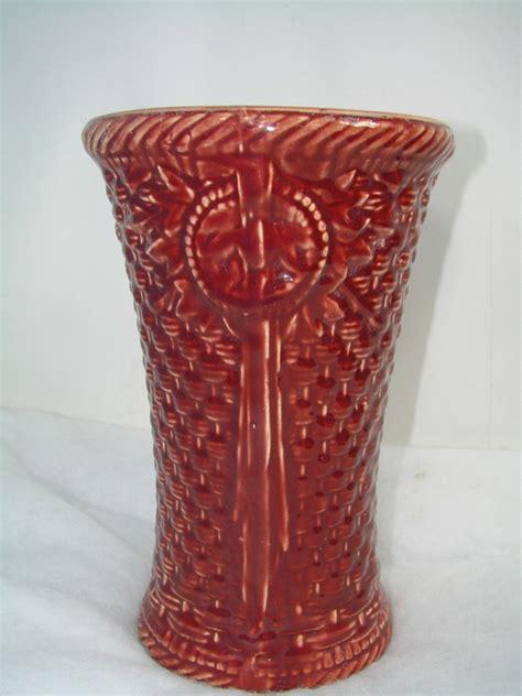 pattern definition ceramics vintage red basket weave pattern ceramic vase pottery