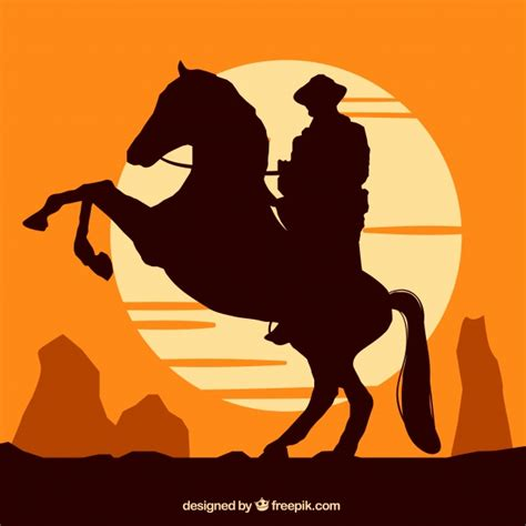 cowgirl silhouette vector free download two beautiful silhouette of cowboy riding at sunset vector free download