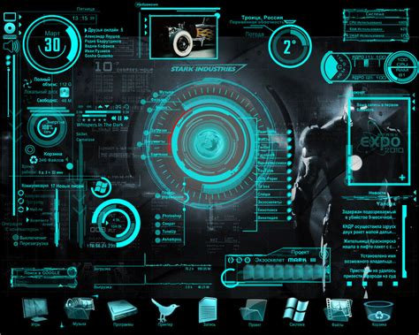 computer interface themes iron man jarvis animated wallpaper wallpapersafari