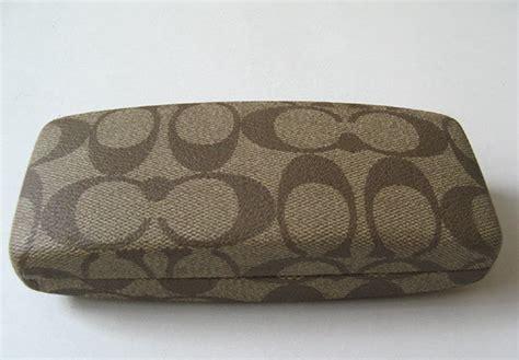 closet coach eyeglass brown canvas coach
