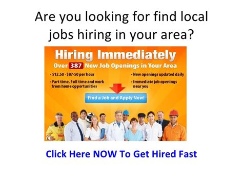 Find Local Find Local Hiring In My Area