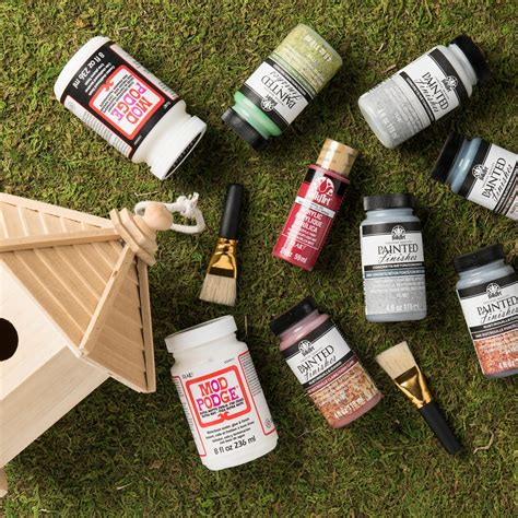 Garden Giveaway - doodlecraft plaid painted finishes 150 fairy garden giveaway