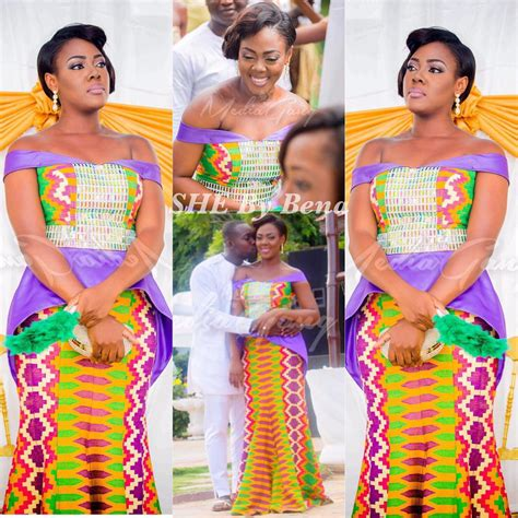 Wedding Hairstyles Kent by Beautiful Kente Styles For A Ghanaian Traditional Wedding