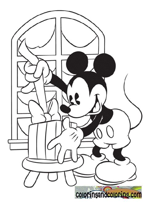 free mickey mouse christmas coloring pages