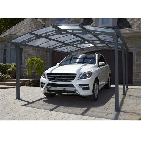Metal Car Canopy Shop Gazebo Penguin 11 66 Ft X 14 83 Ft X 7 75 Ft Grey