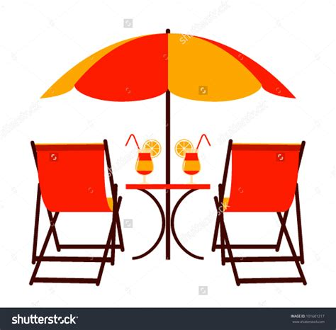 clip on table umbrella clipart chair and umbrella clipground