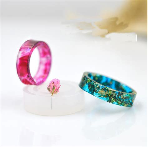 how to make epoxy resin jewelry 1 transparent diy silicon flat shape ring mold mould