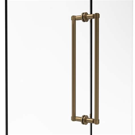 Shower Door Bronze Allied Brass Contemporary 18 In Back To Back Shower Door Pull In Brushed Bronze 405 18bb Bbr