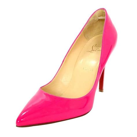 Christian Pink Pumps 35 5 Made In Italy christian louboutin pink patent pigalle follies 100mm