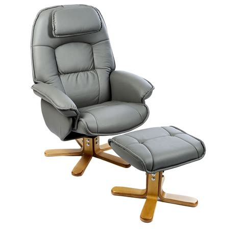 Leather Swivel Recliner Armchair Chair And Footstool by The Avanti Swivel Recliner Chair And Footstool In Oxford